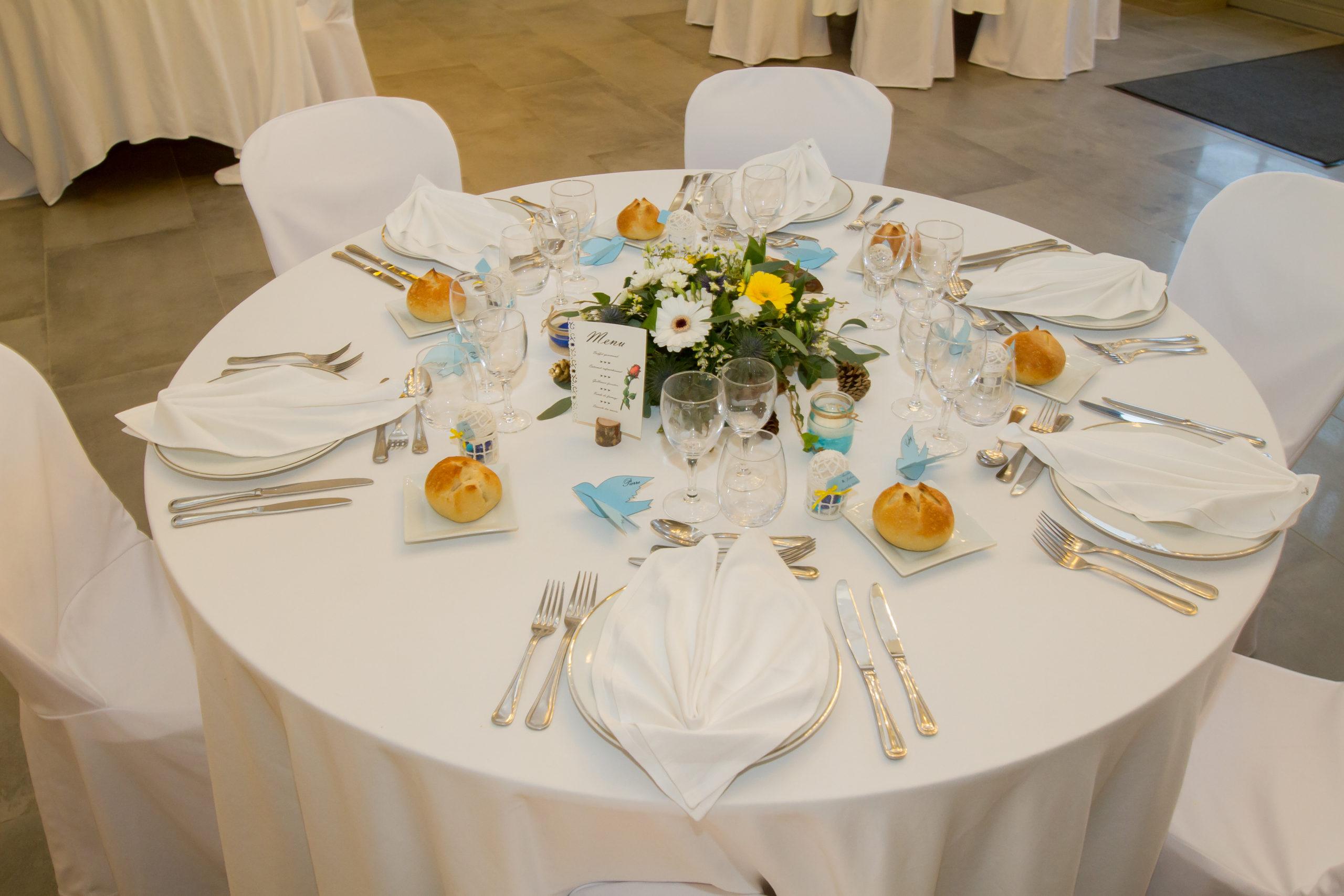 Mariage A&J - Table dressée pour un mariage - C&D Events Wedding planner Oise et Paris