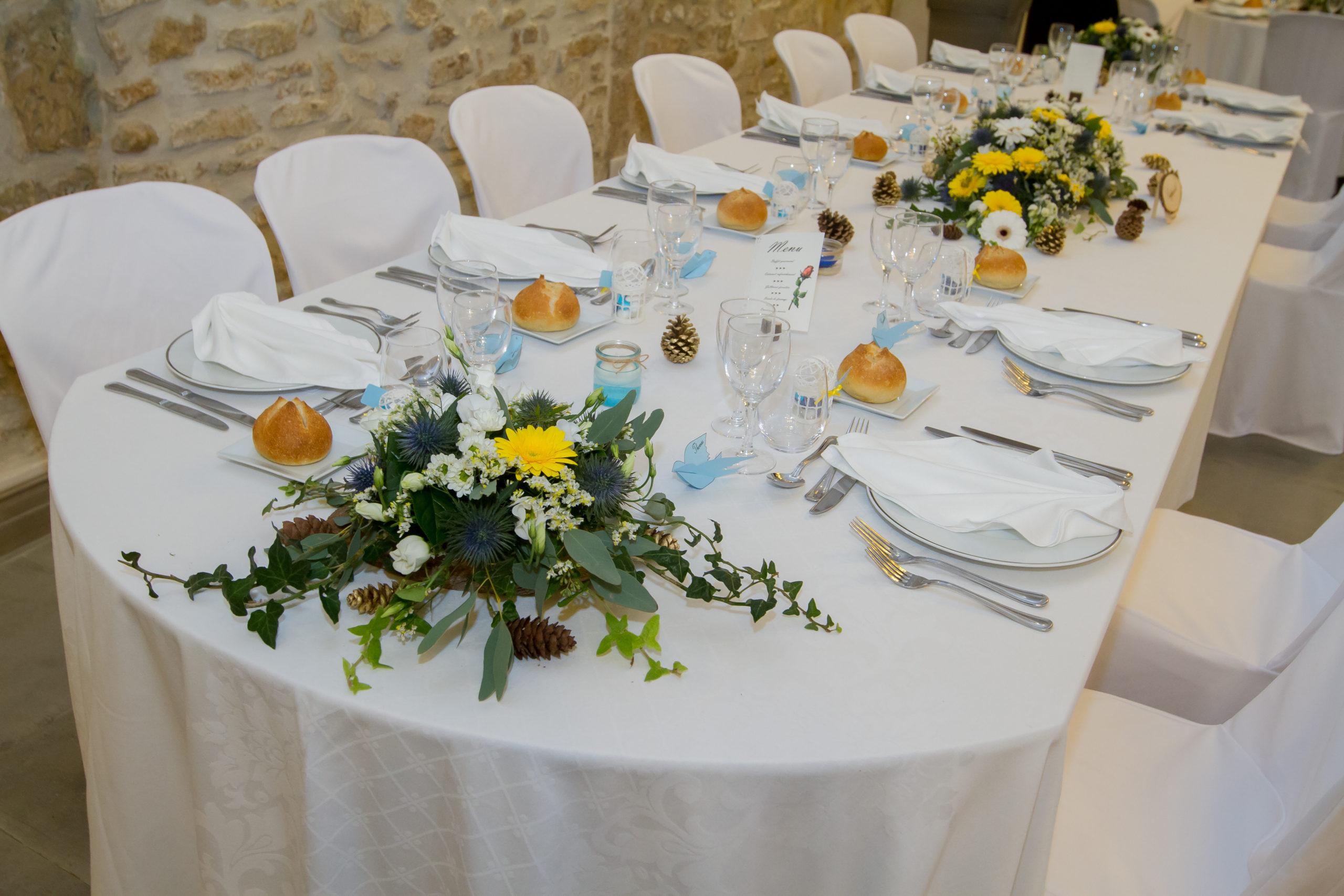 Mariage A&J - Table d'honneur - C&D Events Wedding planner Oise et Paris